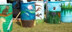 Painted rain barrels from 2013